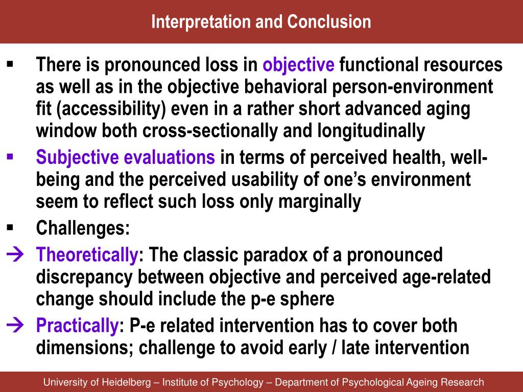 Interpretation and Conclusion