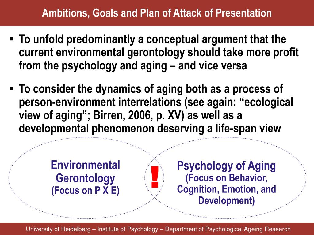 Environmental Gerontology