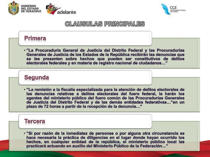 CLAUSULAS PRINCIPALES