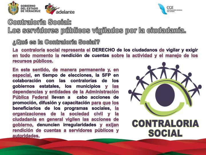Contraloría Social: