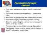 permissible contests defined