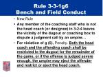 rule 3 3 1g6 bench and field conduct
