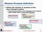 mission purpose definition