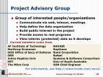 project advisory group