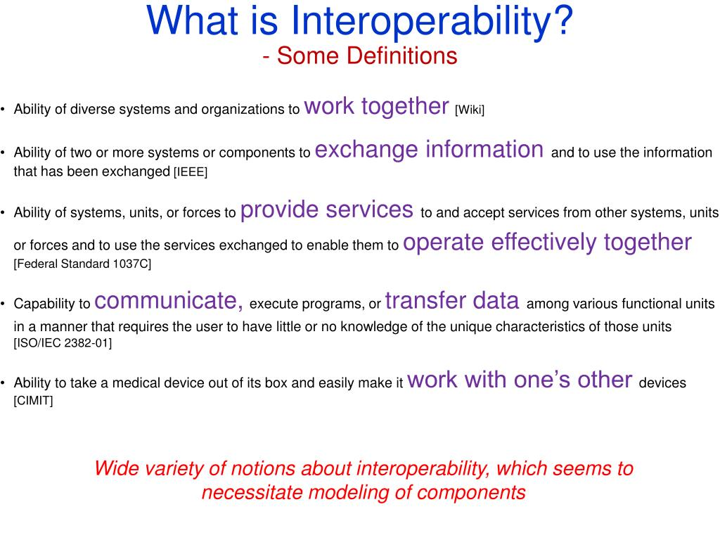What is Interoperability?