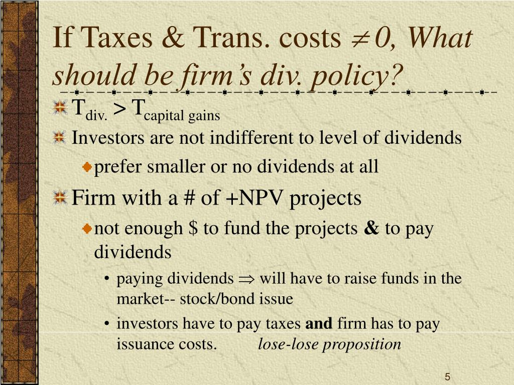 If Taxes & Trans. costs