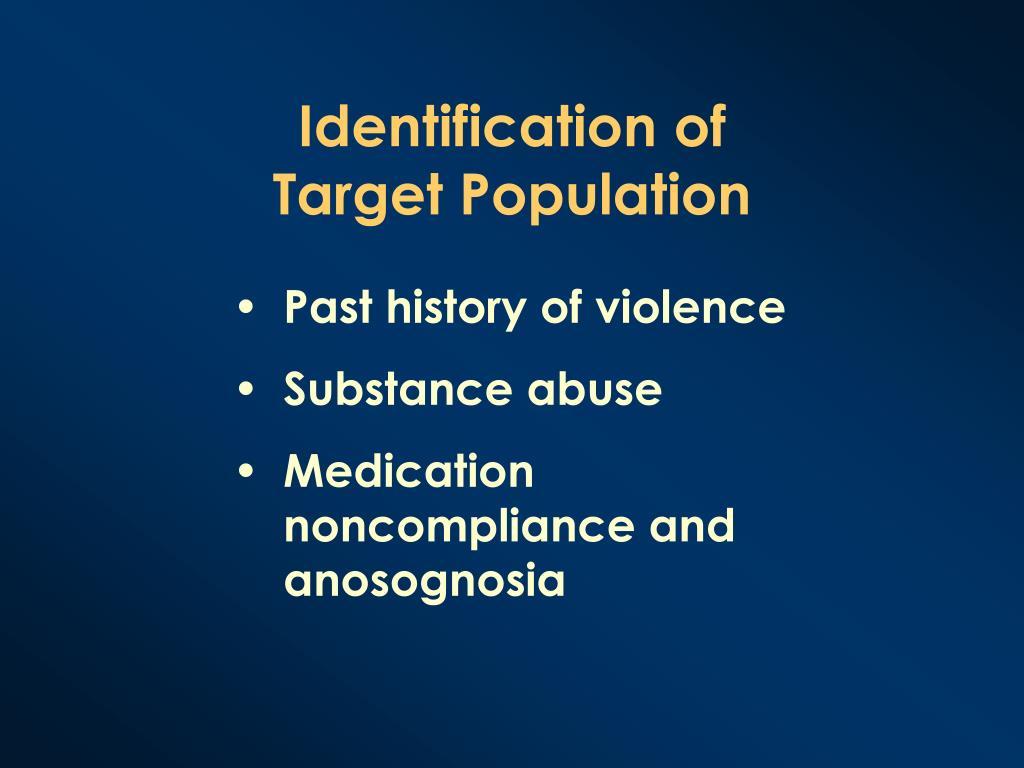 Identification of Target Population