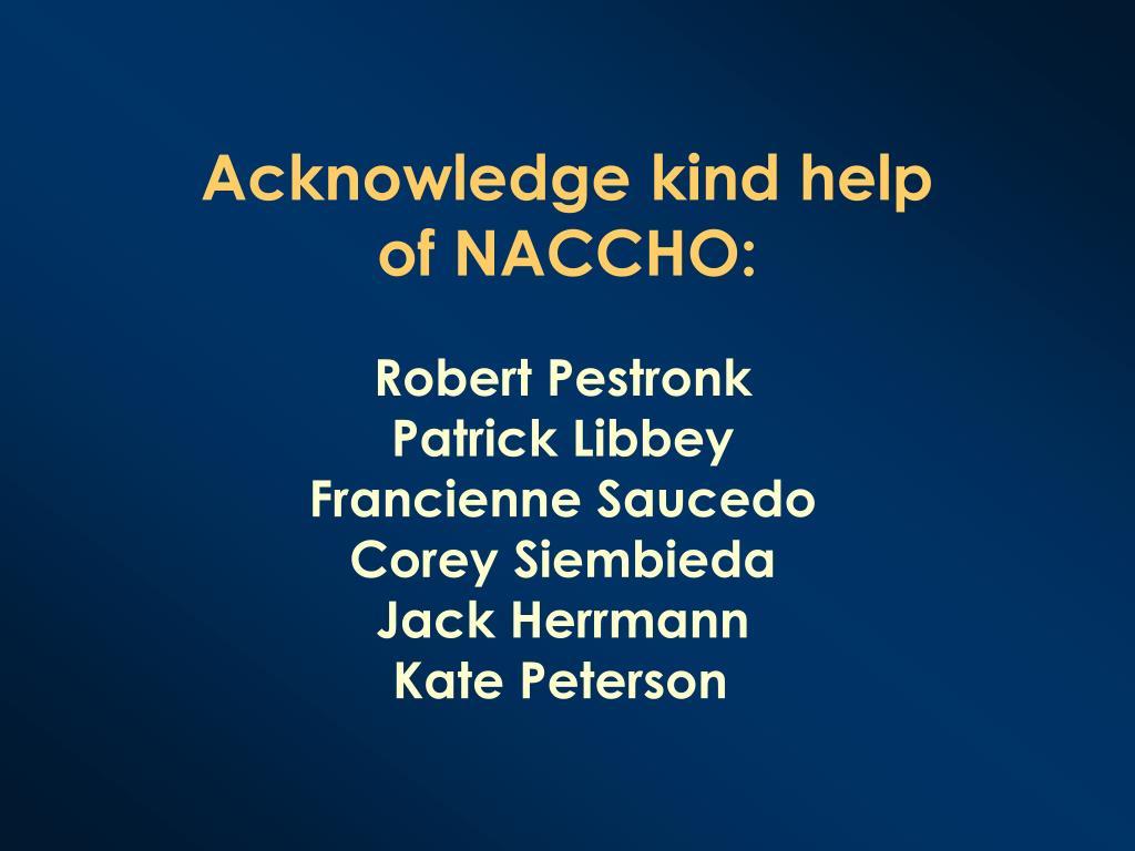 Acknowledge kind help