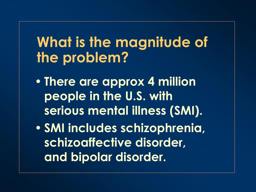 What is the magnitude of the problem?