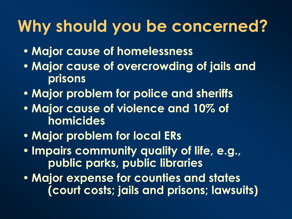 Why should you be concerned?