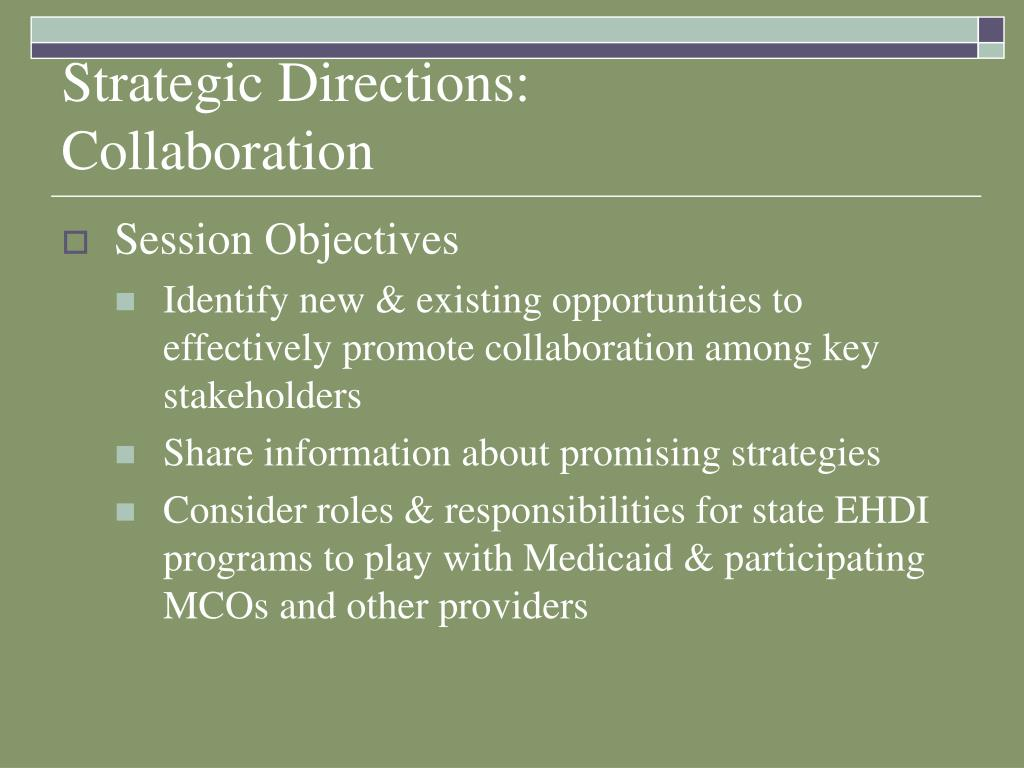 Strategic Directions:
