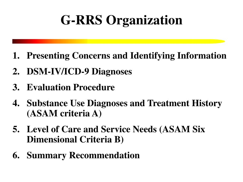G-RRS Organization