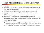 key methodological work underway