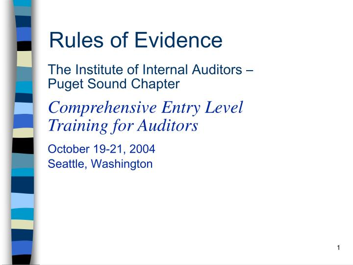 rules of evidence n.