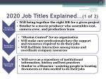 2020 job titles explained 1 of 2