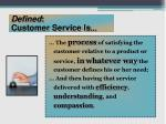 defined customer service is
