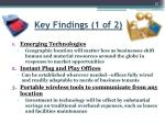 key findings 1 of 2