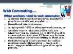 web commuting