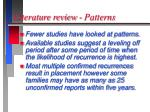 literature review patterns