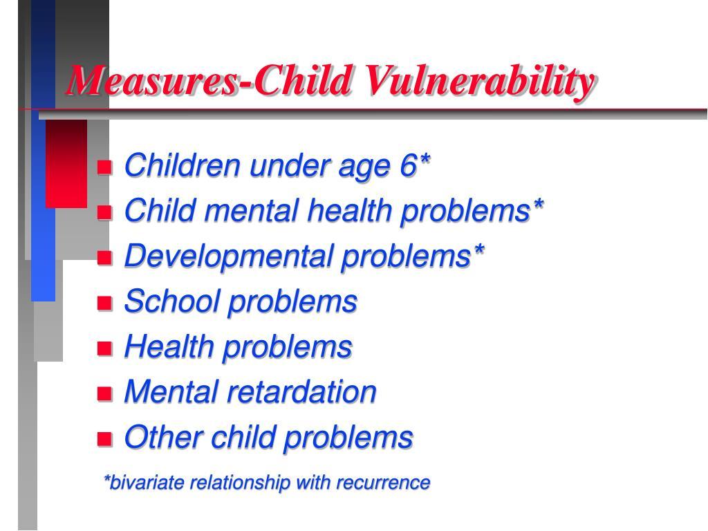 Measures-Child Vulnerability