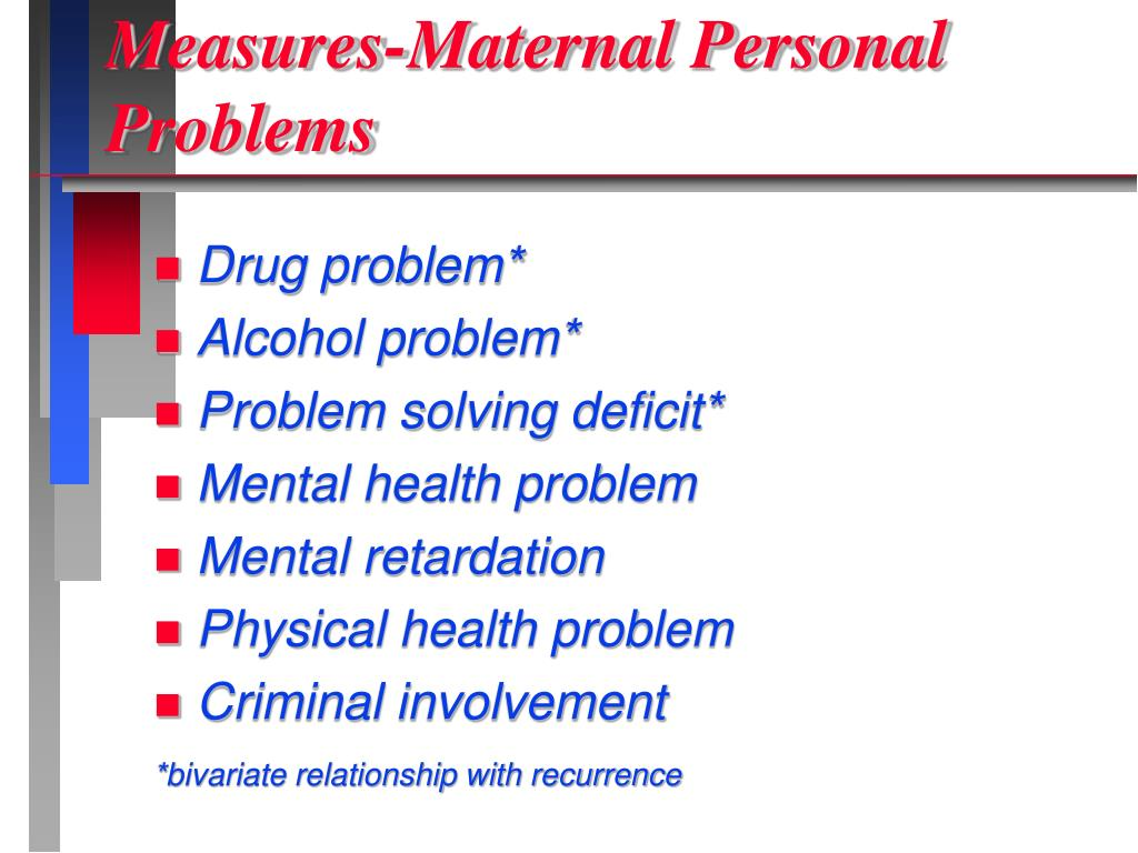 Measures-Maternal Personal Problems