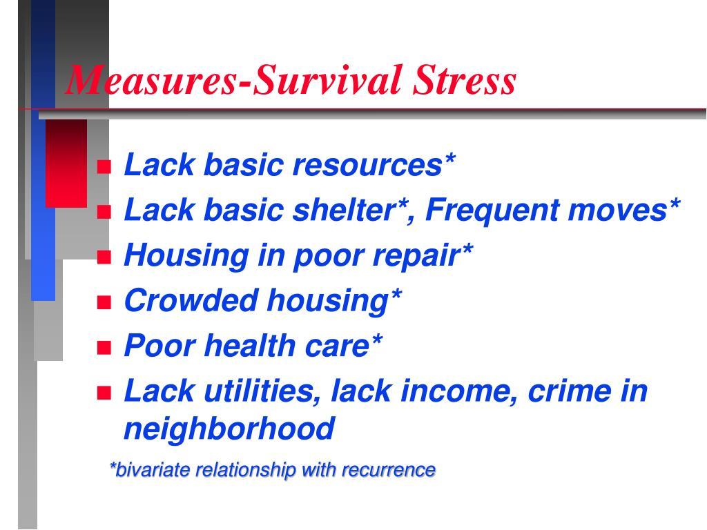 Measures-Survival Stress