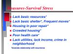 measures survival stress