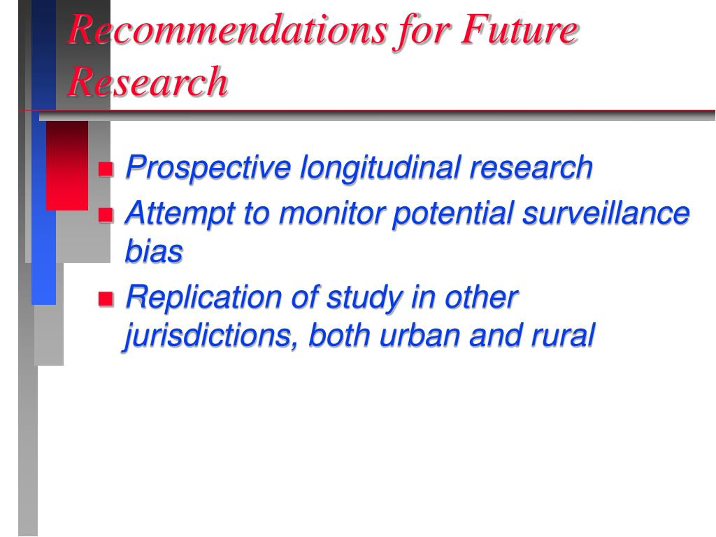 Recommendations for Future Research