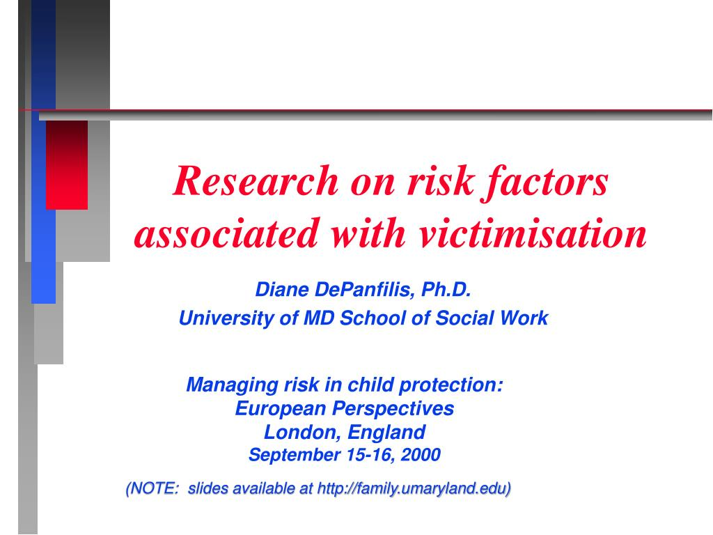 research on risk factors associated with victimisation l.