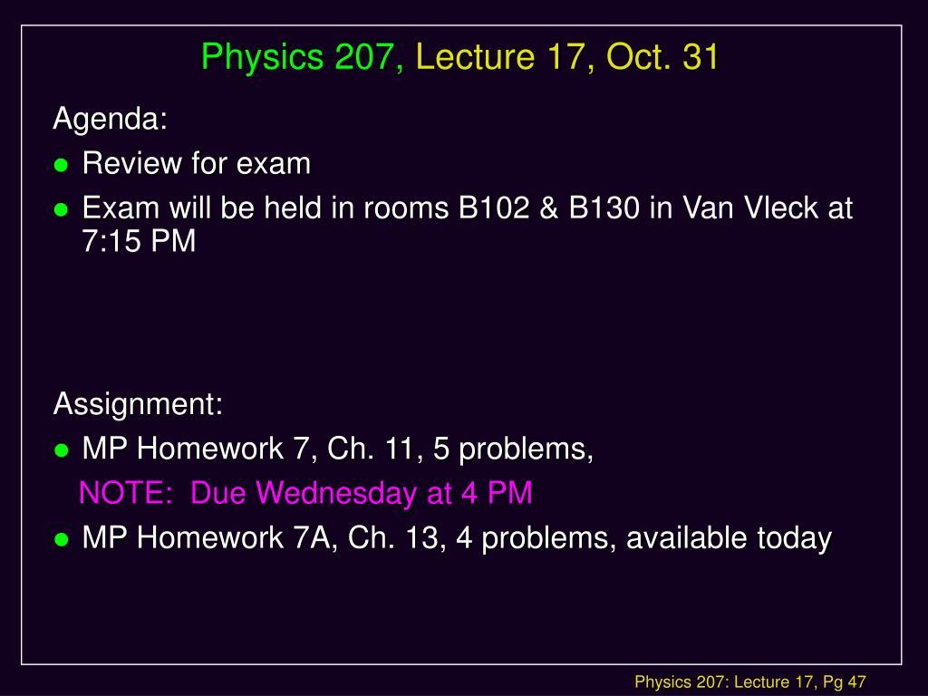 Physics 207,