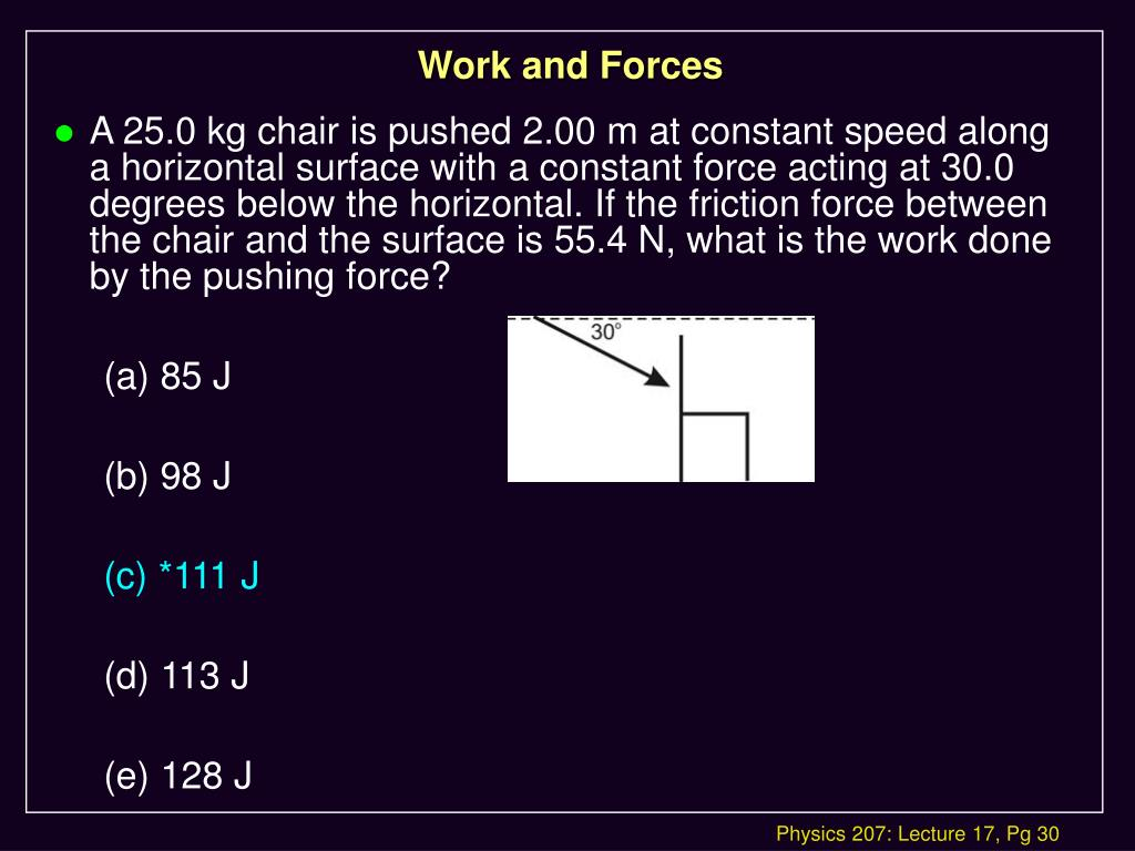 Work and Forces