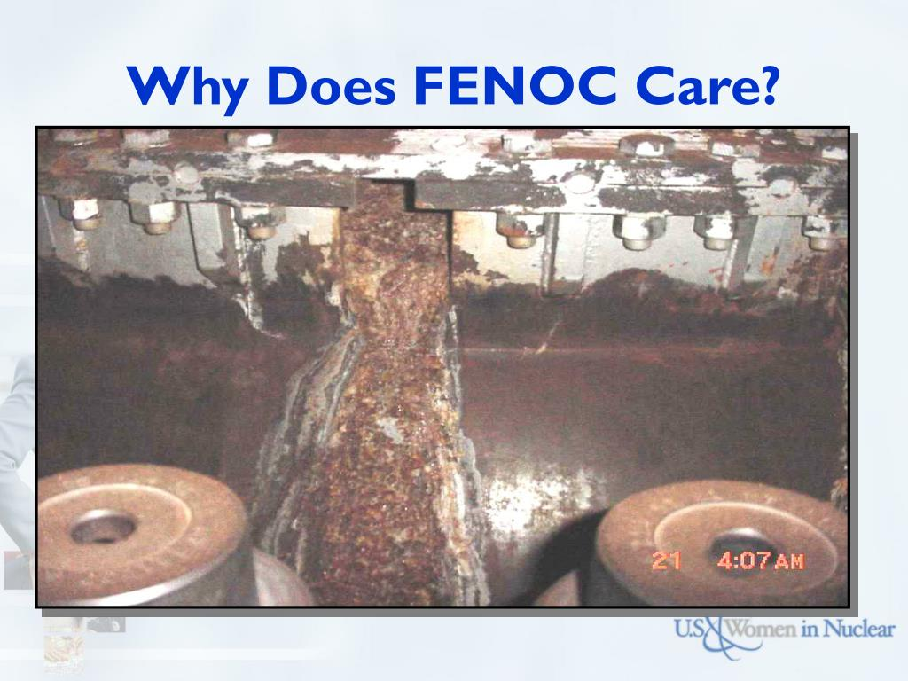 Why Does FENOC Care?