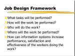 job design framework