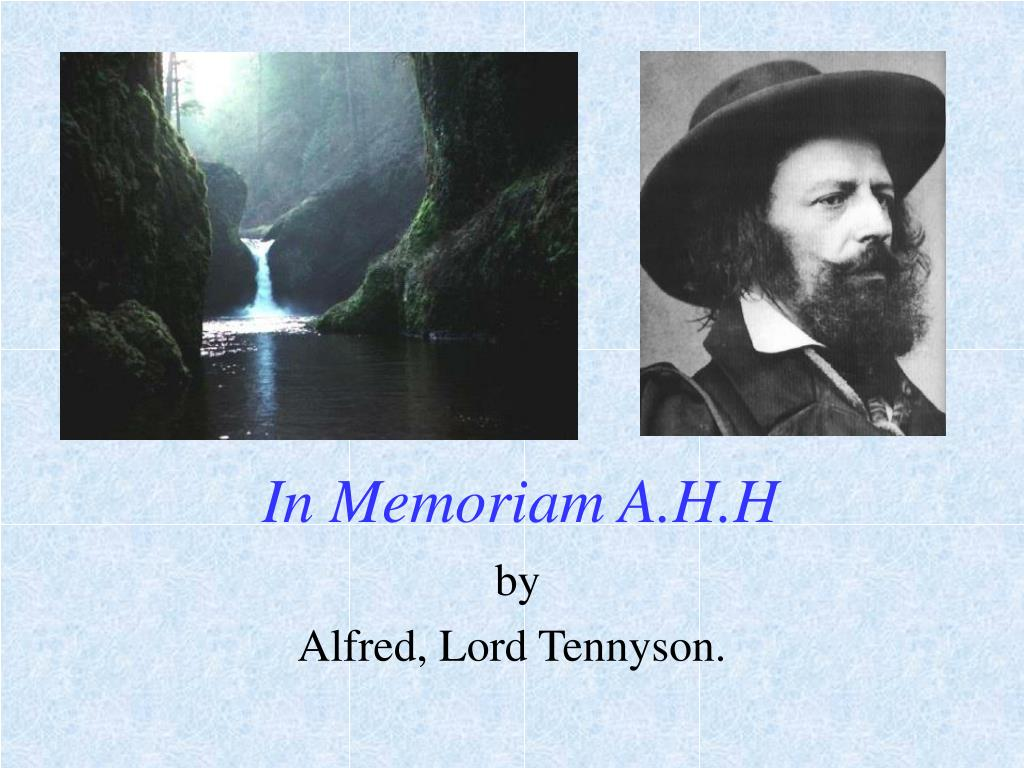 ppt in memoriam a h h powerpoint presentation id 680406