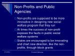 non profits and public agencies