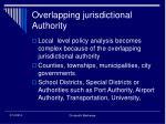 overlapping jurisdictional authority