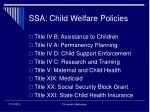 ssa child welfare policies
