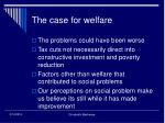 the case for welfare