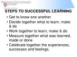 steps to successful learning