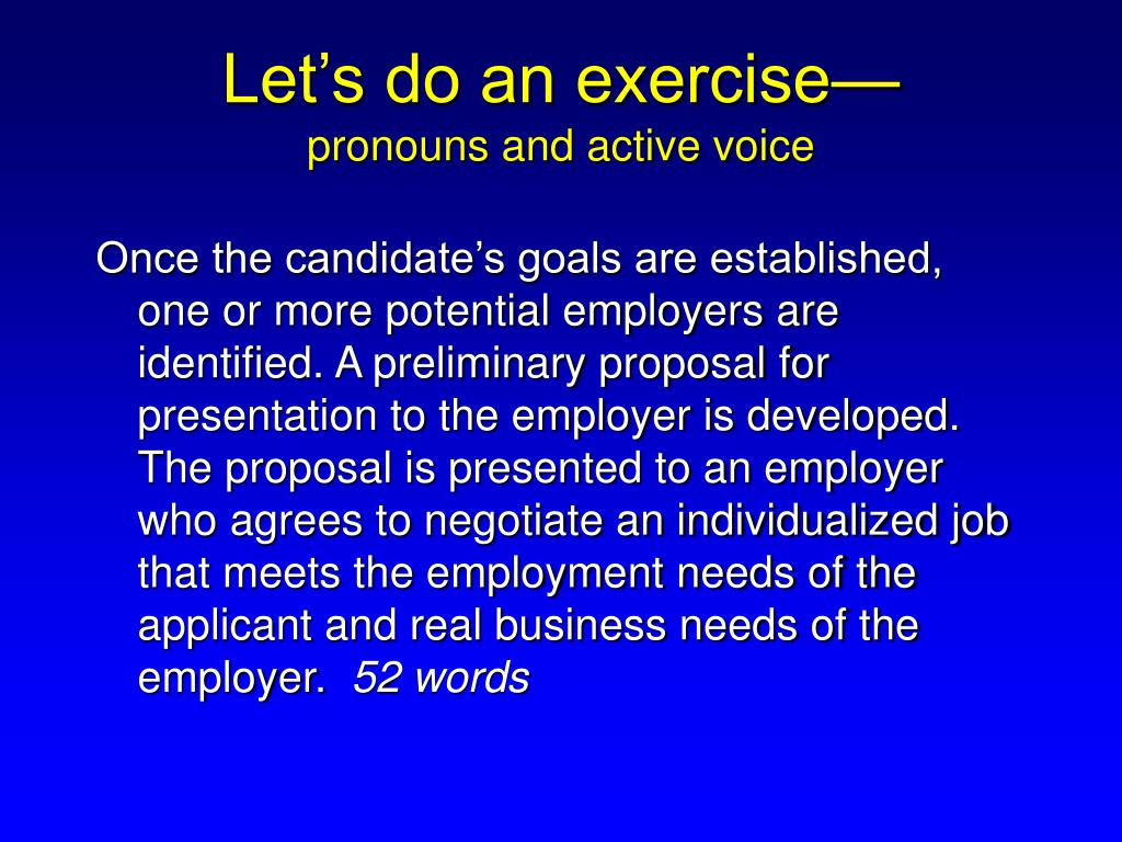 Let's do an exercise—