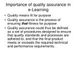 importance of quality assurance in e learning