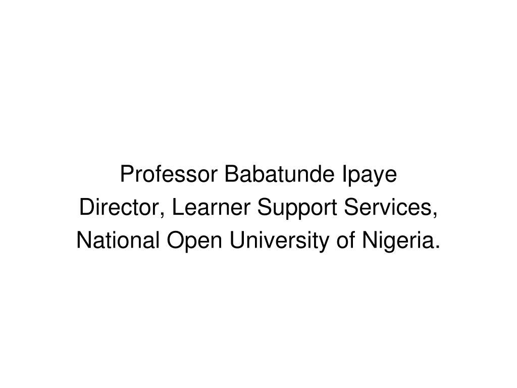 Professor Babatunde Ipaye