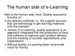the human side of e learning