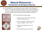 natural resources threatened endangered species