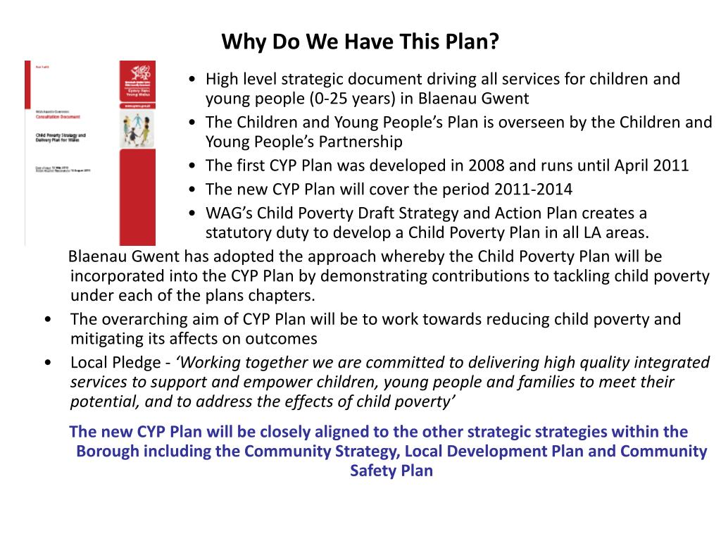 Why Do We Have This Plan?