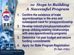 10 steps to building a successful program