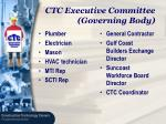 ctc executive committee governing body