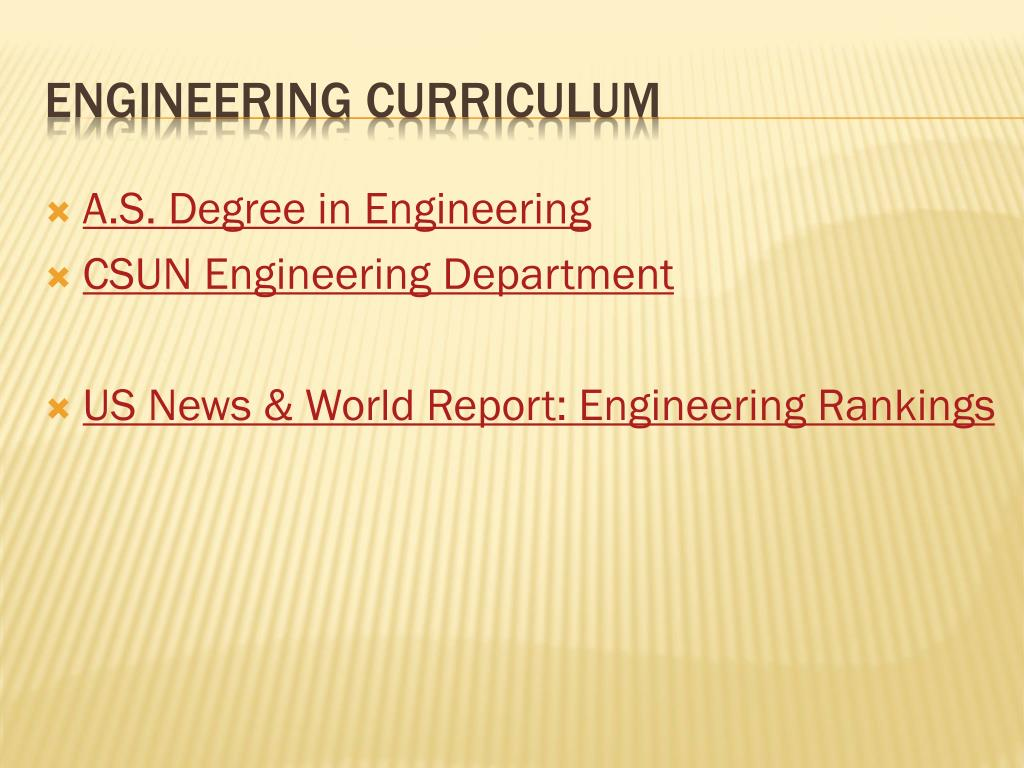 Engineering Curriculum