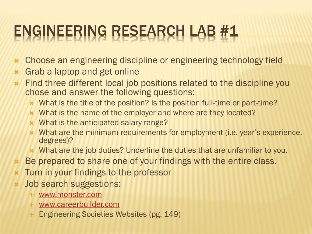 Engineering Research Lab #1
