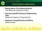 authoritative statements